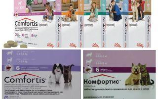 Comprimés aux puces pour chiens et chats