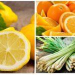 Citron, orange et citronnelle