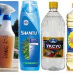 Anti-moustique à la maison avec du vinaigre et du shampooing