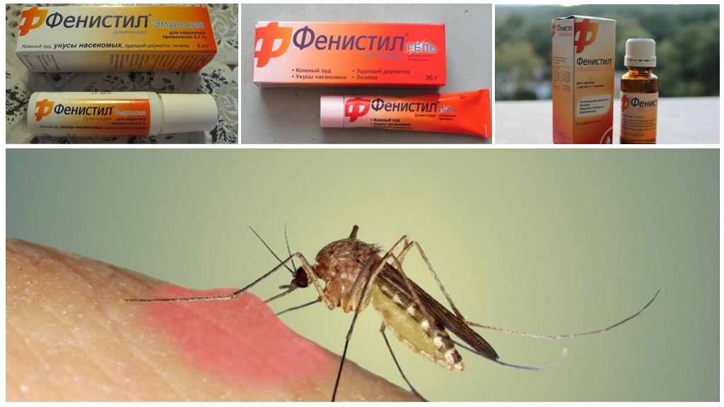 Préparations Fenistil de piqûres de moustiques