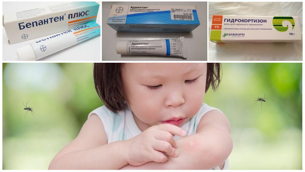 Pommades utilisées dans les piqûres de moustiques chez les enfants