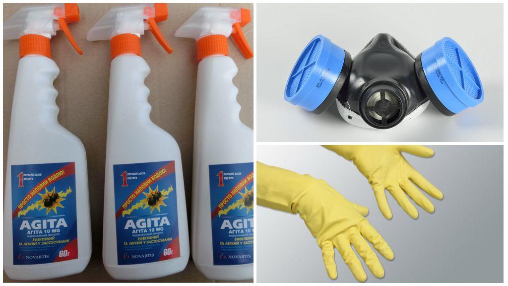 Mesures de sécurité lorsque vous travaillez avec Agita