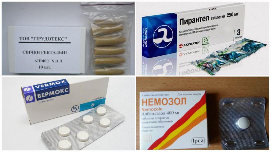 Préparations pour le traitement de l'entérobiose chez une femme enceinte