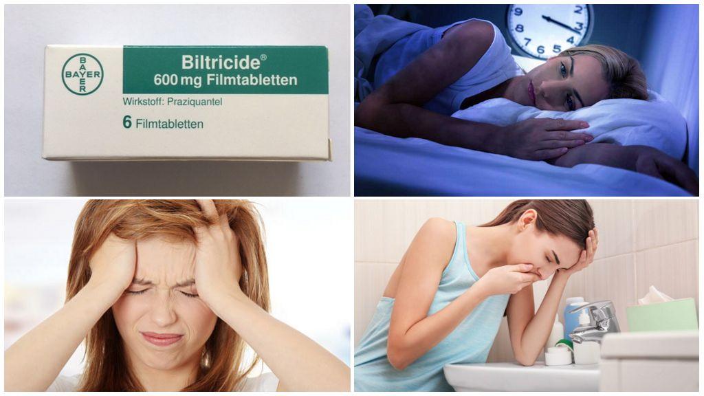 Effets secondaires de prendre Biltricid