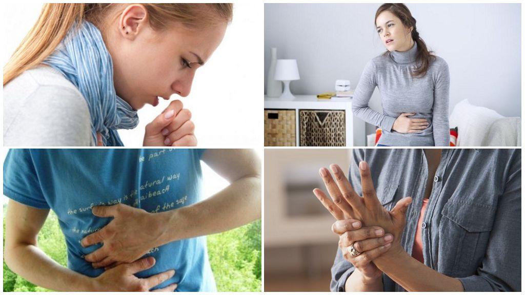 Symptômes de l'opisthorchiase